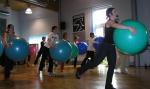 Sobotní seminář pilates a míčů.